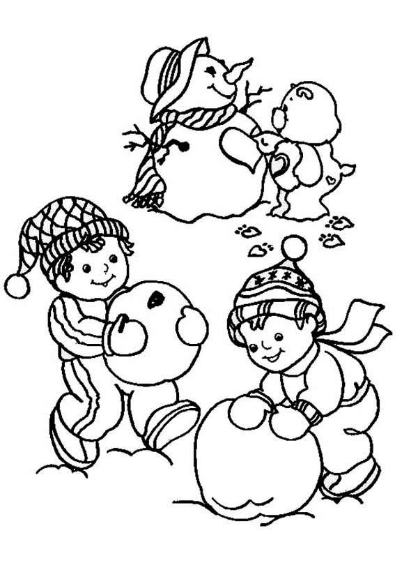 Fun snowman coloring page - Print. Color. Fun!   840x600