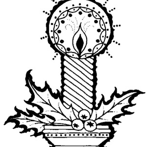 Awesome Christmas Candle Picture Coloring Pages