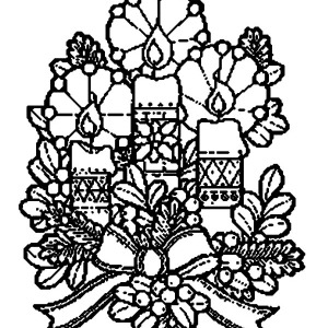 Beautiful Decoration For Christmas Candle Coloring Pages