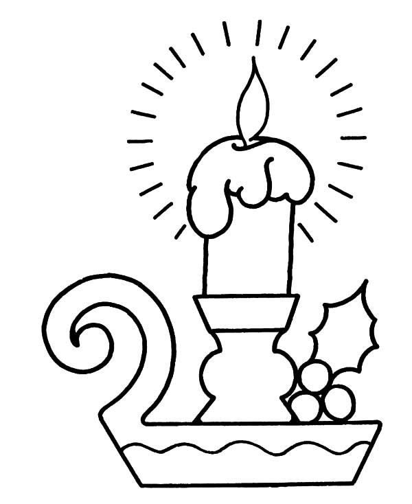 bright light christmas candle coloring pages