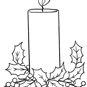 Christmas Candle Blowing By The Wind Coloring Pages