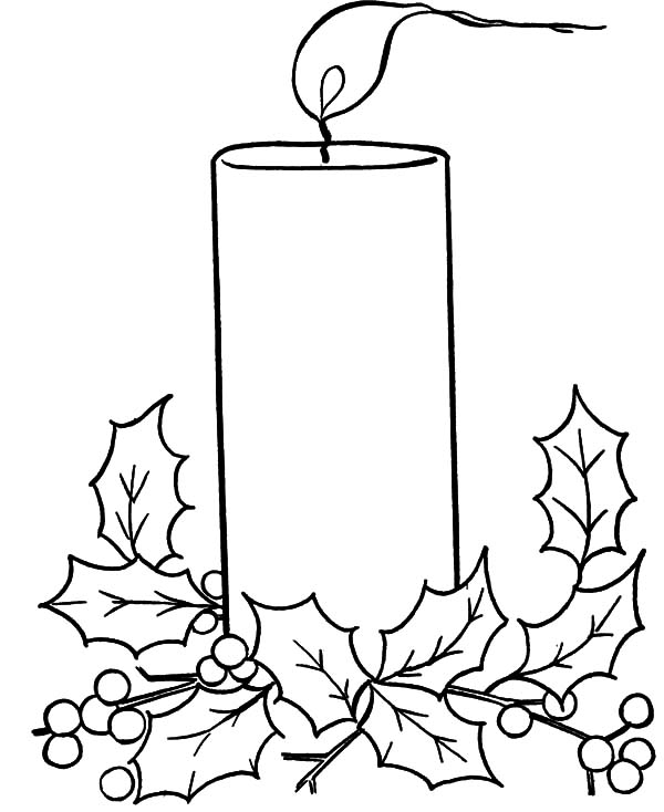 christmas candle christmas candle blowing by the wind coloring pages christmas candle blowing by