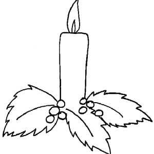 Christmas Candle Holy Light Coloring Pages