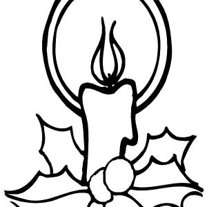Christmas Candle Light Glowing Coloring Pages