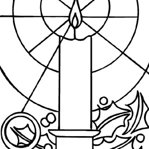 Christmas Candle Light Shining Bright Coloring Pages