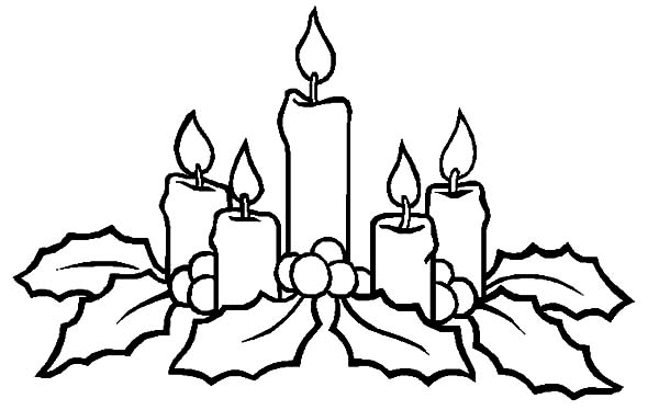 christmas candle shine to our heart coloring pages