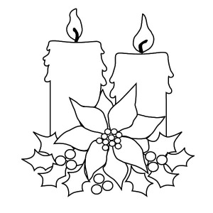 christmas candle for decorating christmas tree coloring pages