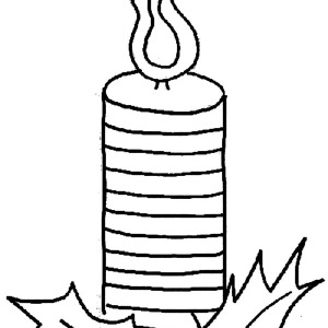 Christmas Candle For Holy Night Coloring Pages