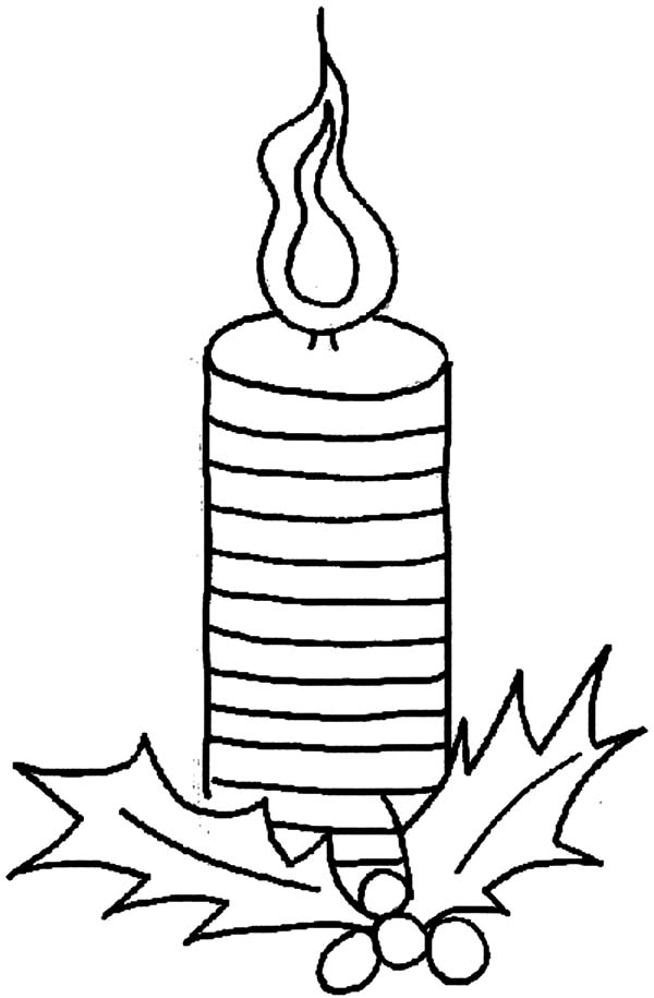 Christmas Candle For Holy Night Coloring Pages - Download ...