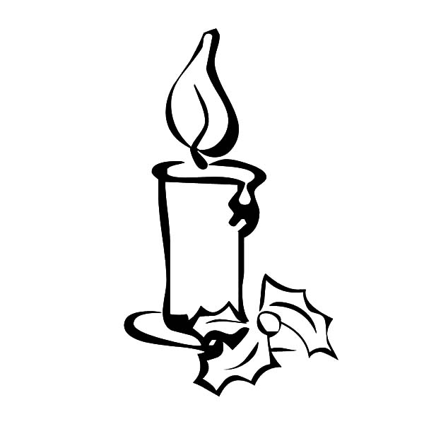 Drawing Christmas Candle Coloring Pages Download Amp Print