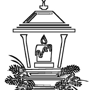 Light Christmas Candle Coloring Pages