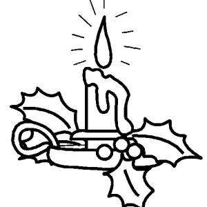 Lovely Decoration Christmas Candle Coloring Pages