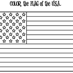 American Flag For Independence Day Coloring Pages