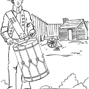 American Soldier Fight For Independence Day Coloring Pages