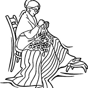 Betsy Ross Sewed American Flag For Independence Day Coloring Pages
