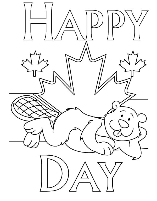Canada Day Coloring Pages For Kids Download Print