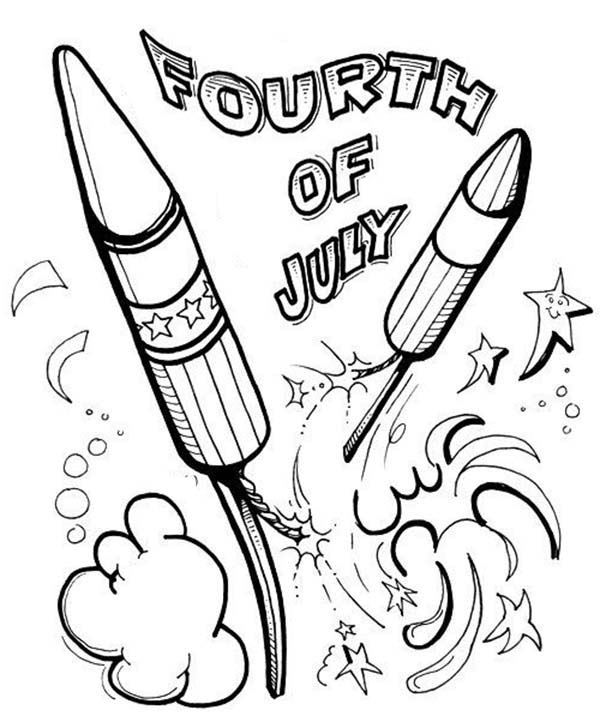 Celebration Fireworks On Independence Day Coloring Page - Download & Print  Online Coloring Pages For Free Color Nimbus