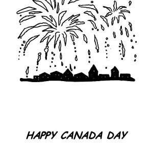 Fireworks On Canada Day Coloring Pages