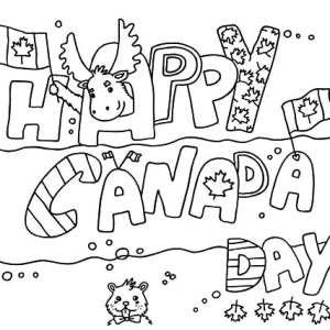 Flag Design On Canada Day Coloring Pages