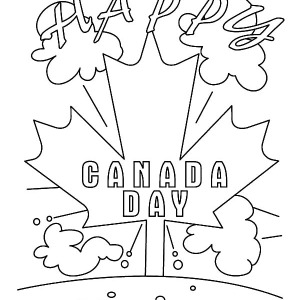 Its Happy Day To Everyone On Canada Day Coloring Pages