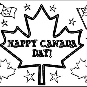 Joyful Celebration On Canada Day Coloring Pages
