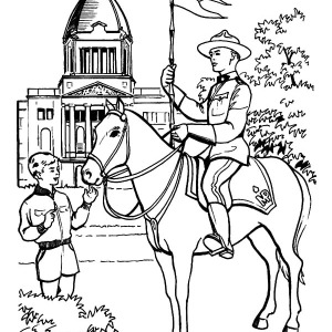 Ride A Horse On Canada Day Coloring Pages