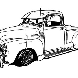 1950 Chevy Truck Lowrider Cars Coloring Pages