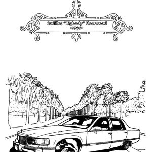 1996 Fleetwood Lowrider Cars Coloring Pages
