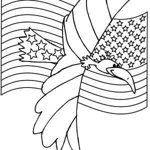 American Eagle Flag Day Coloring Pages