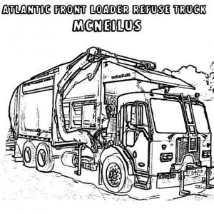 Atlantic Front Loader Garbage Truck Coloring Pages