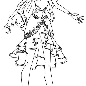 Beautiful Raven Queen Ever After High Coloring Pages