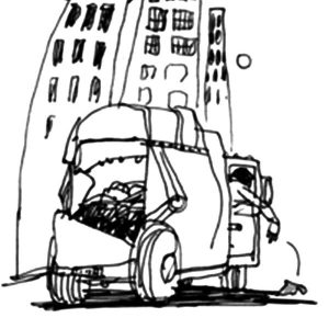 Big City Garbage Truck Coloring Pages