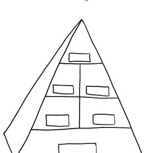 Blank Food Pyramid Coloring Pages