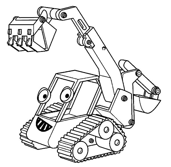 Bob The Builder Excavator Coloring Pages Download Print Online