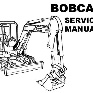 Bobcat Excavator Coloring Pages