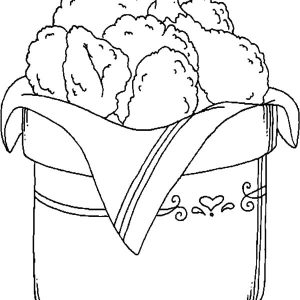 Bucket Full Of Drumstick Fried Chicken Coloring Pages