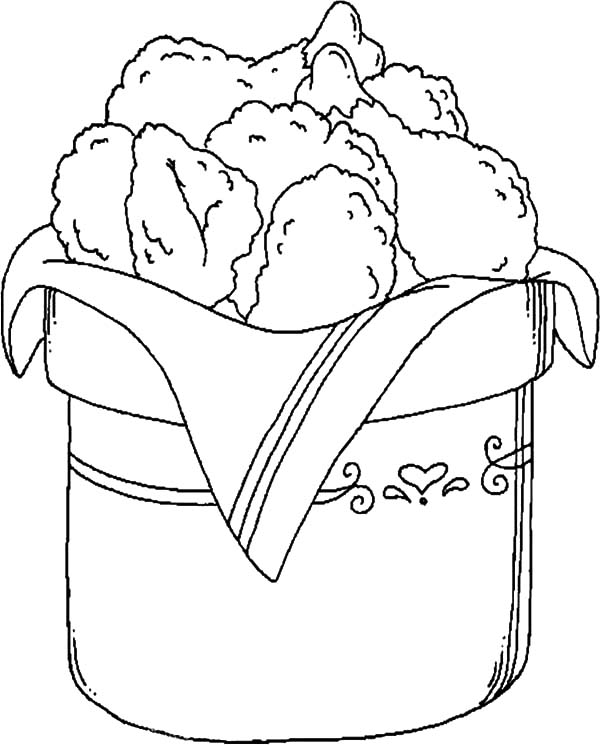 Bucket Full Of Drumstick Fried Chicken Coloring Pages ...