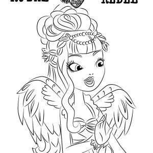 CA Cupid Ever After High Coloring Pages