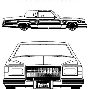 Cadillac Lowrider Cars Coloring Pages