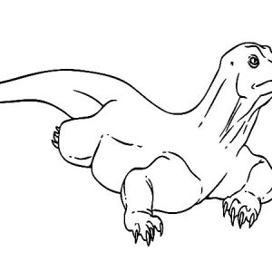 Carnivores Komodo Dragon Coloring Pages
