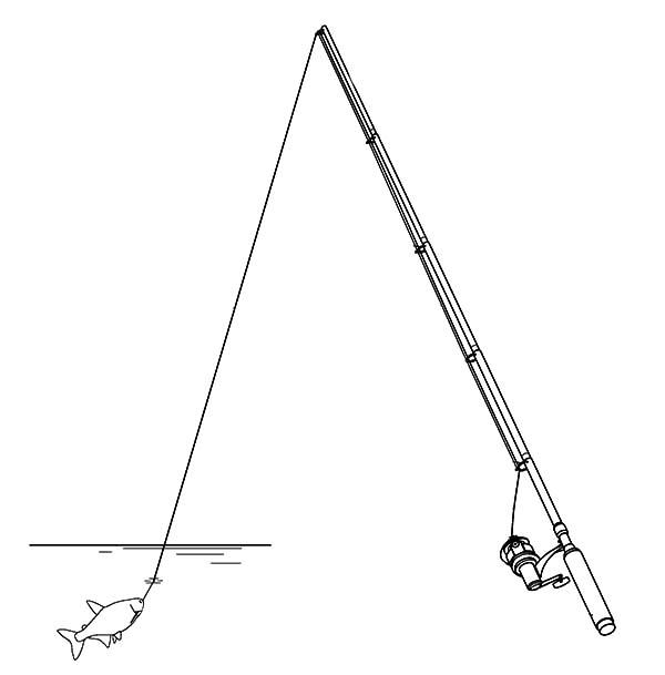 Как рисовать удочку карандашом