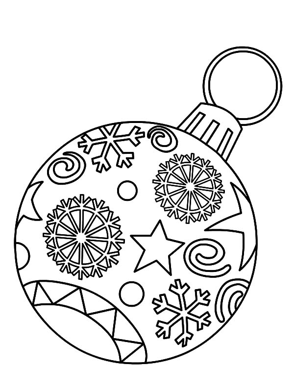 Christmas Ornament Light Bulb Coloring Pages Download Print