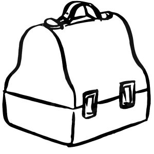 Classic Lunchbox Coloring Pages