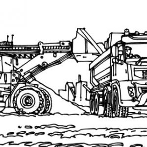 Coal Mining Excavator Coloring Pages