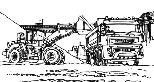 Coal Mining Excavator Coloring Pages Print Online For Free Color Nimbus