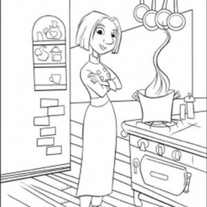 Colette In The Kitchen Coloring Pages