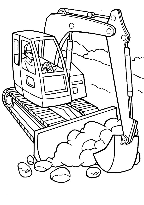 Construction Equiptment Excavator Coloring Pages Download Print Online Coloring Pages For Free Color Nimbus