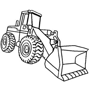 Construction Loader Excavator Coloring Pages