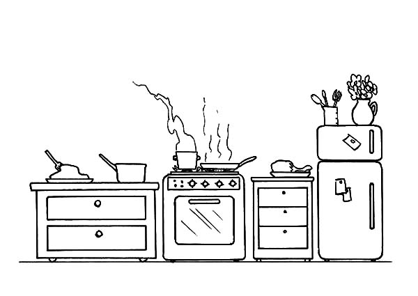 free cooking coloring pages - photo#32