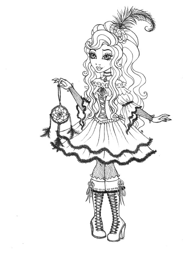 Cynthia Happily Ever After High Coloring Pages Download